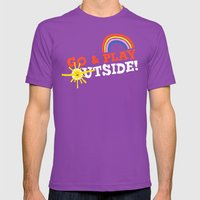 Go & Play Outside! Mens Fitted Tee Ultraviolet SMALL
