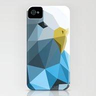 Geometric Blue Parakeet iPhone (4, 4s) Slim Case