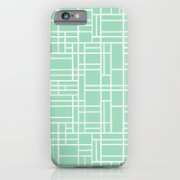 Map Outline Mint iPhone 6 Slim Case