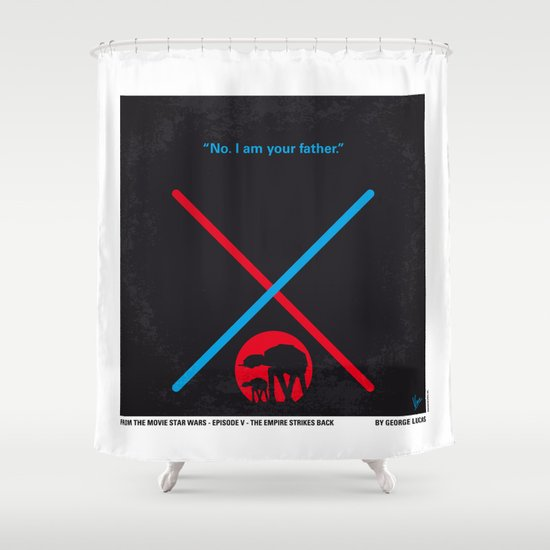No155 My STAR Episode V The Empire Strikes Back WARS minimal movie poster Shower Curtain