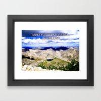 Rocky Mountain HIGH -- Colorado Framed Art Print
