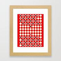Game of Love! Framed Art Print