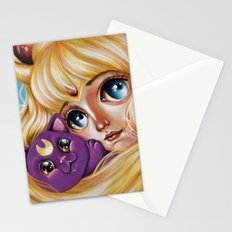 Sailor Moon and Luna Stationery Cards