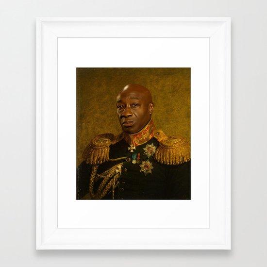 Michael Clarke Duncan - replaceface Framed Art Print