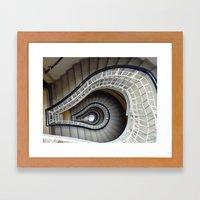 Staircase to Prague Framed Art Print