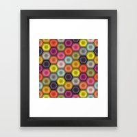 crochet honeycomb Framed Art Print