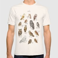 Owls Mens Fitted Tee Natural SMALL