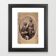 Vintage Muff Diving Framed Art Print
