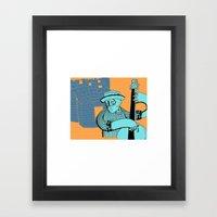 folk double bass Framed Art Print