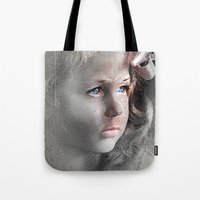 Girl with Bow Tote Bag