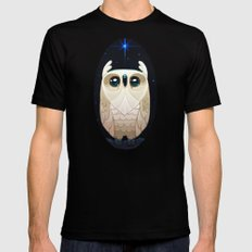 Starla the Owl SMALL Mens Fitted Tee Black