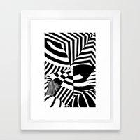 Op art pattern Framed Art Print