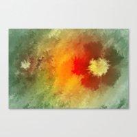 Summer floral wallpapaer. Canvas Print