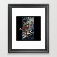 Big Pompin' In Space Framed Art Print