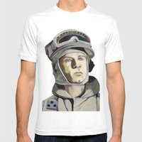 Rebel Soldier Mens Fitted Tee White SMALL