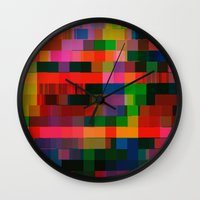 Videotape (bear2_hex) Wall Clock