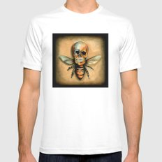 Bee Mens Fitted Tee White SMALL