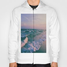 Sunset Crashing Waves  Hoody