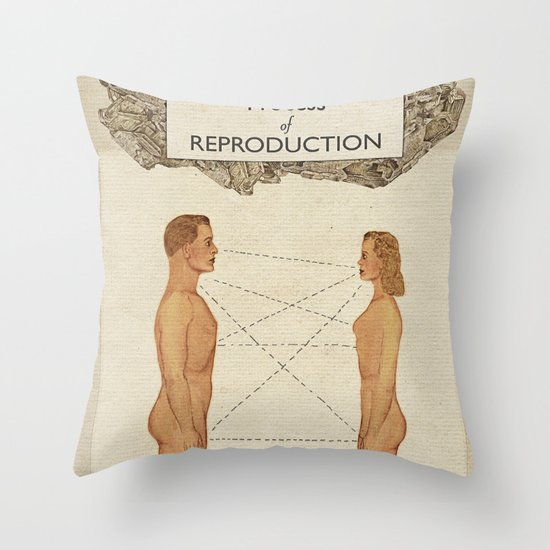 The Process of Reproduction I Throw Pillow