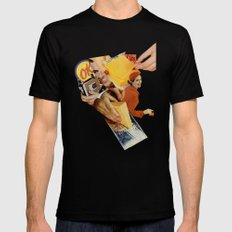 Say Cheese! Mens Fitted Tee SMALL Black