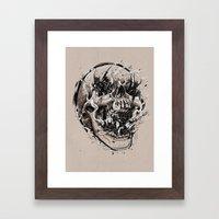 Skull With Demons Strugg… Framed Art Print