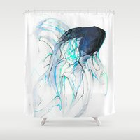 Ghost Fish Shower Curtain