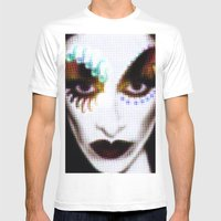 DIAMANDA Mens Fitted Tee White SMALL