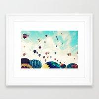 Hundreds Of Balloons Framed Art Print