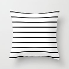 Thin Black Stripe Pattern Throw Pillow