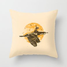 Ride The Sky Throw Pillow