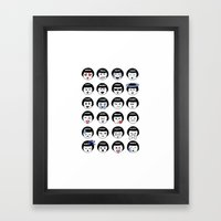 Flapper Doodle Emoji Framed Art Print