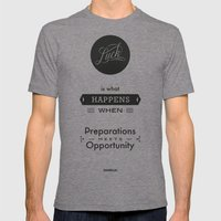 Seneca Quote, Literary A… Mens Fitted Tee Tri-Grey SMALL
