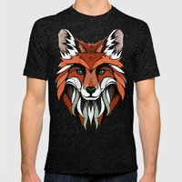 Fox // Colored Mens Fitted Tee Tri-Black SMALL