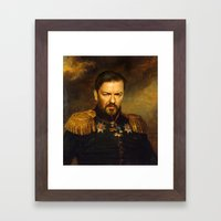 Ricky Gervais - Replacef… Framed Art Print