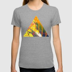 Wave yellow Womens Fitted Tee Tri-Grey SMALL