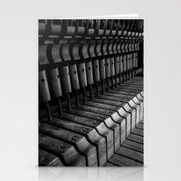 Silent Piano Keys Stationery Cards