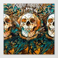 Old Skull Canvas Print