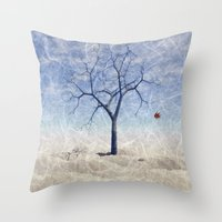 When The Last Leaf Falls Throw Pillow