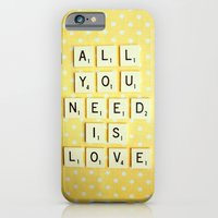 iPhone & iPod Case featuring All You Need is Love by happeemonkee