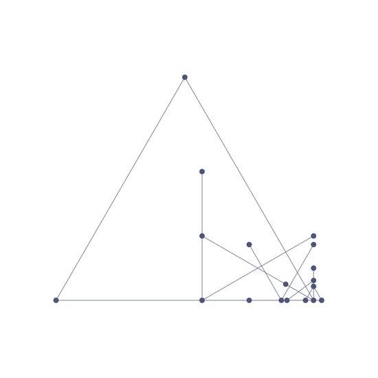 #331 Pyramid construction site – Geometry Daily Art Print
