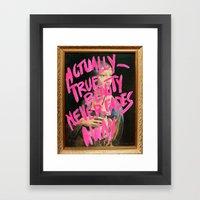 TRUEBEAUTY Framed Art Print
