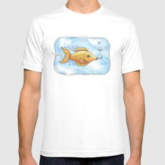 Kisses From Fannie Finn SMALL Mens Fitted Tee White