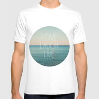 Love Laugh Live #2 Mens Fitted Tee White SMALL