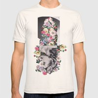Floral Dreams Mens Fitted Tee Natural SMALL