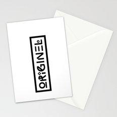 Originel noir Stationery Cards
