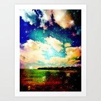Far Out Beach Art Print
