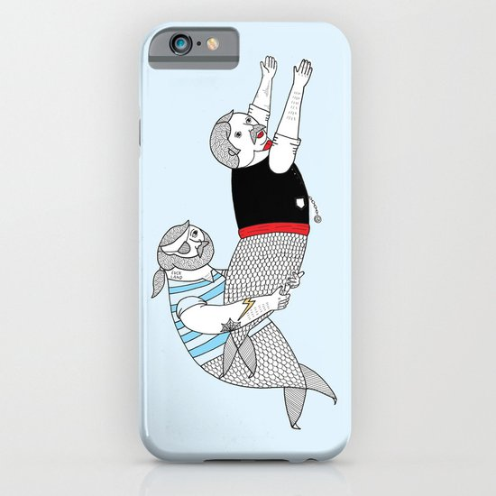 On how some species of mermen resolve trivial quarrels iPhone & iPod Case