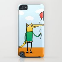 iPod Touch Cases featuring Fox & Baloon by Pedro Vilas Boas