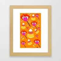 Blood Pops and Candy Corn Framed Art Print