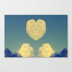 Cloudy Heart  Canvas Print